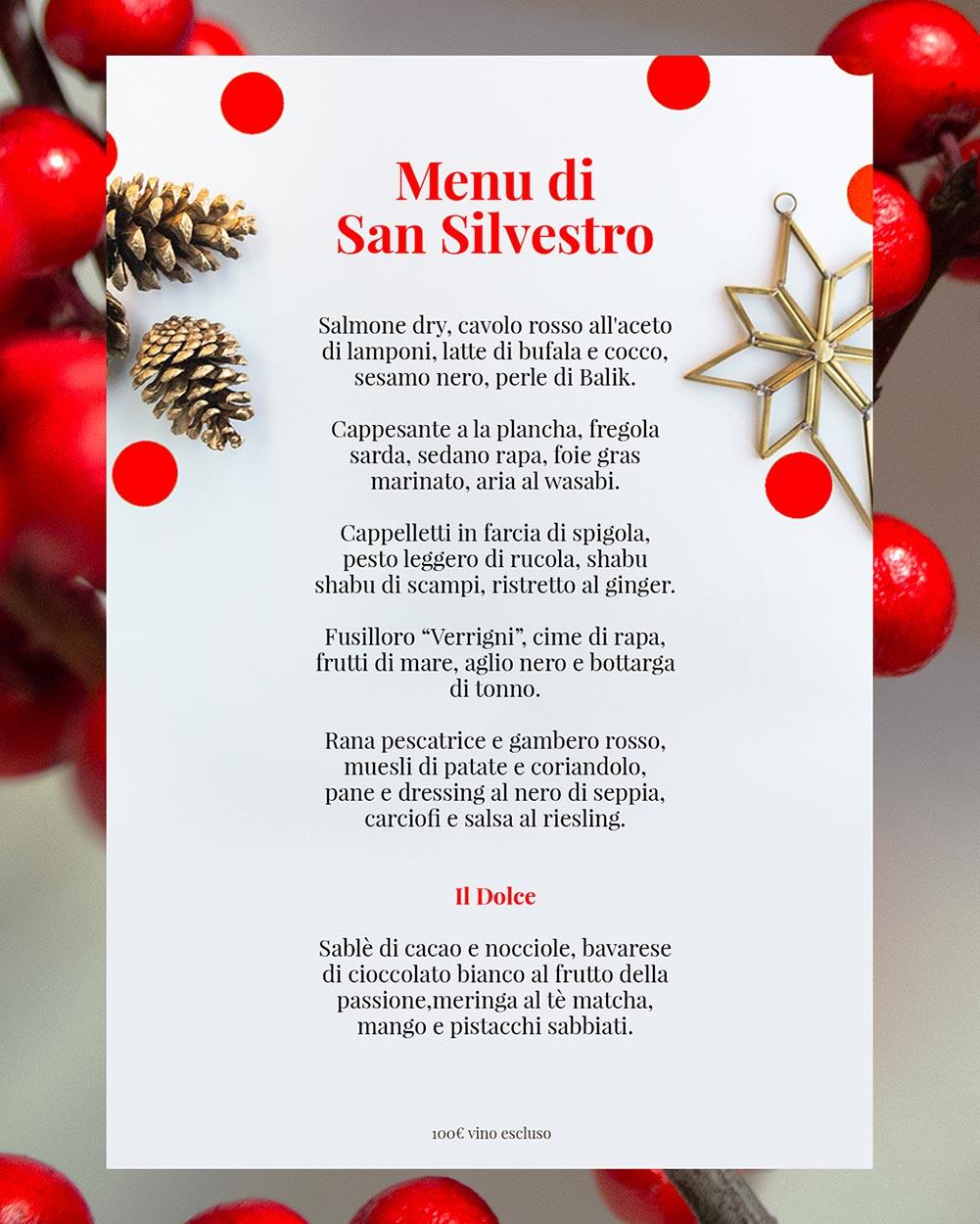 menu San Silvestro